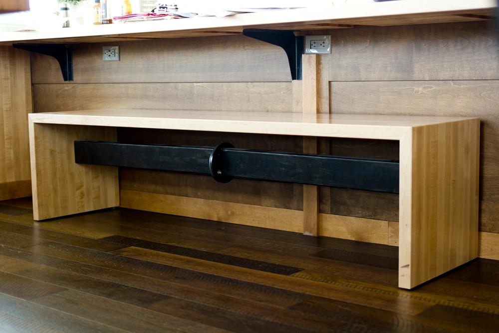 Look's Marketplace Custom Wood & Metal Bench