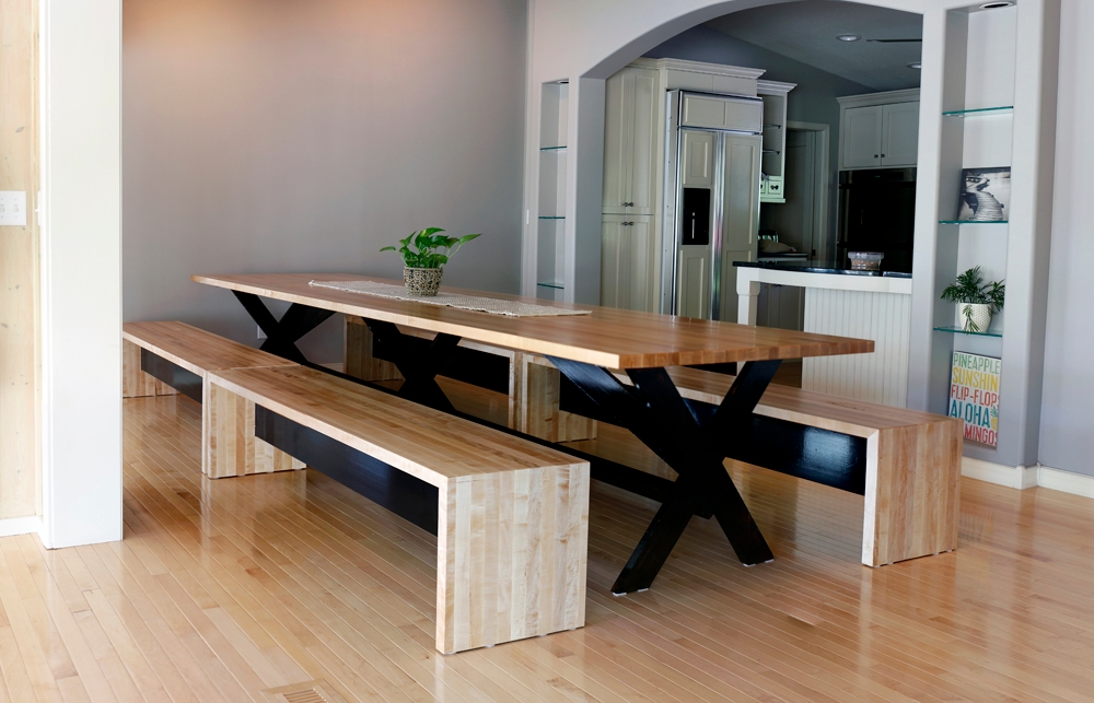 Custom Wood Family Dining Room Table
