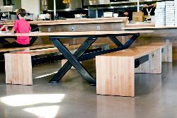Look's Marketplace Custom Wood & Metal Table